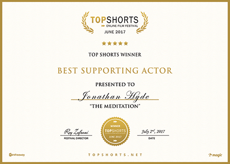 Top Shorts Online Film Festival Award